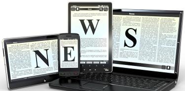 Media. Electronic news. 3d